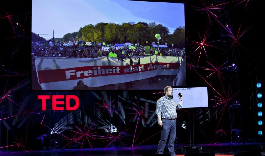 Malte Spitz bei der TEDGlobal Conference 2012 in Edinburgh