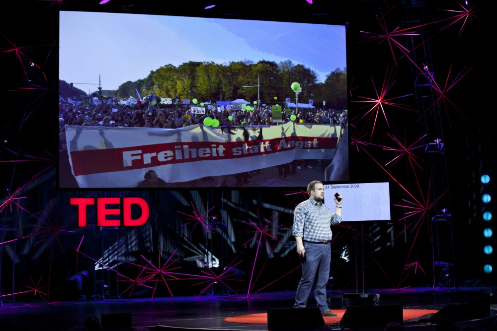 Malte Spitz bei der TEDGlobal Conference 2012 in Edinburgh